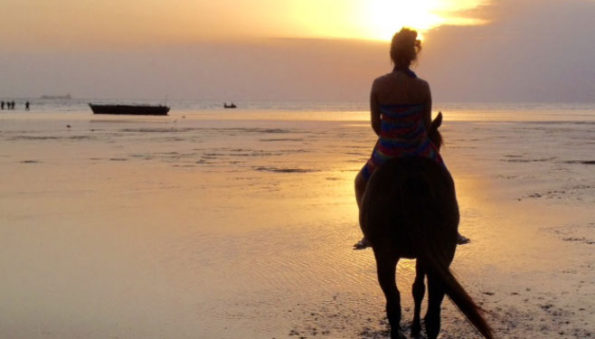 Zanzibar Sunset  Horse riding
